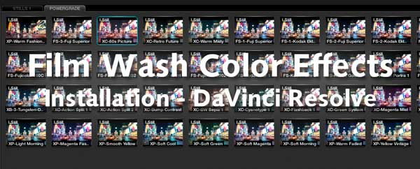 Installation Film Wash Color Effects for Resolve - 15